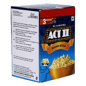 ACT II Golden Sizzle 5 in 1 Multipack, 210g