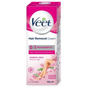 Veet Hair Removal Cream For Normal Skin, 25 g