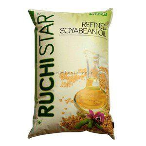 Ruchi Star Soya Oil Pouch, 1 L