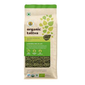 Organic Tattva Whole Moong Dal 1 kg