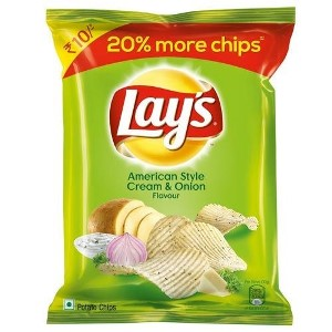 Lays Cream & Onion Chips 10rs.