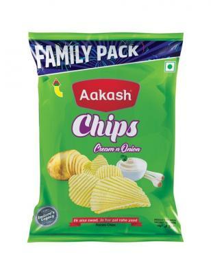 Aakash Chips Large Cream N Onion, 1 N