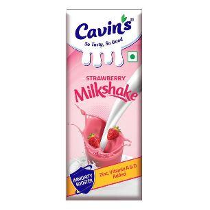 Cavin's Strawberry Milk Shake 200 ml