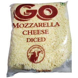 GO Mozzarella Cheese Diced, 2 kg