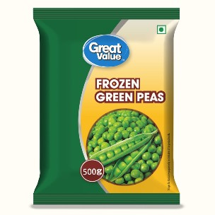 Great Value Frozen Green Peas 500 g