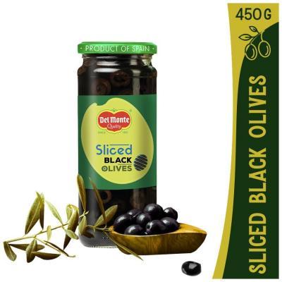 Del Monte Sliced Black Olives Glass Bottle