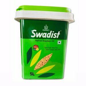 Swadist Refined Soyabeen Oil Bucket  5L