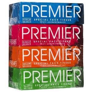 Premier Face Tissue 4 N (Size 20 cm X 20 cm Each)