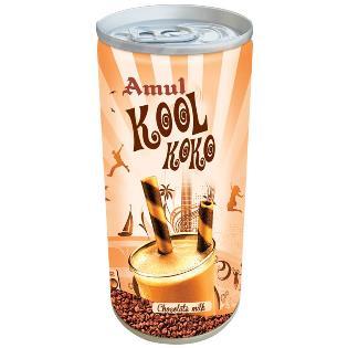 Amul Kool Koko Flavored Milk Can, 200 ml